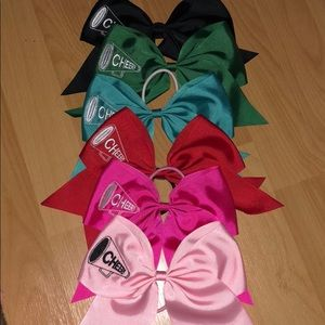 Cheer Hair Bows for Girls